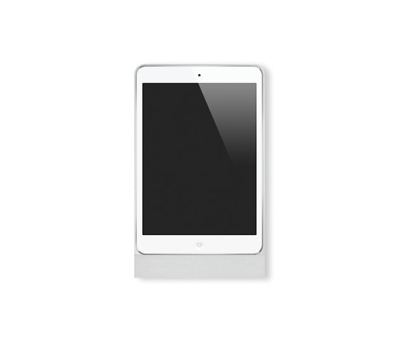 Eve Mini brushed aluminium square de Basalte | Estaciones smartphone / tablet