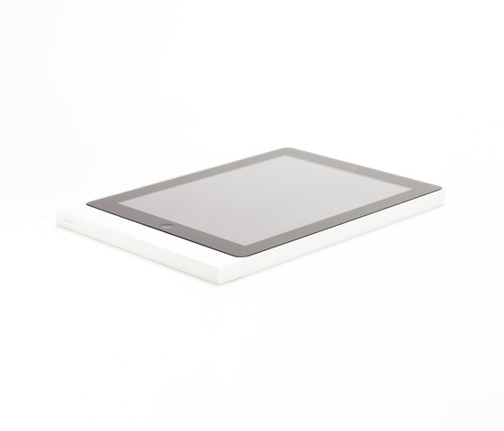 Eve satin white square by Basalte | Information terminals
