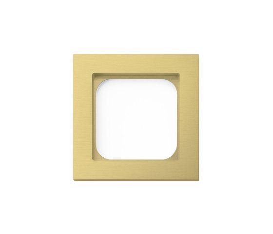 Frame classic 1-gang brushed brass by Basalte | Socket outlets