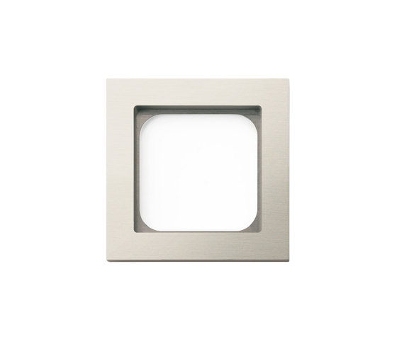 Frame classic 1-gang brushed nickel by Basalte | Socket outlets