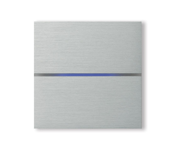 Sentido 2-way brushed aluminium by Basalte | KNX-Systems