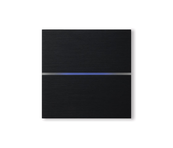 Sentido switch - brushed black - 2-way by Basalte | KNX-Systems