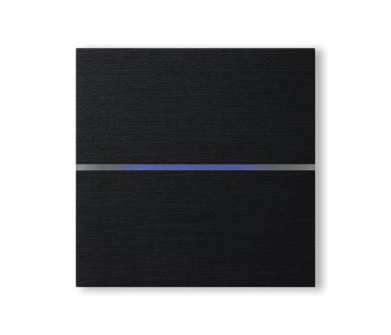 Sentido 2-way brushed black by Basalte | KNX-Systems
