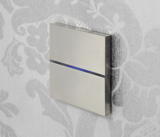 Sentido classic 2-way brushed nickel by Basalte | KNX-Systems