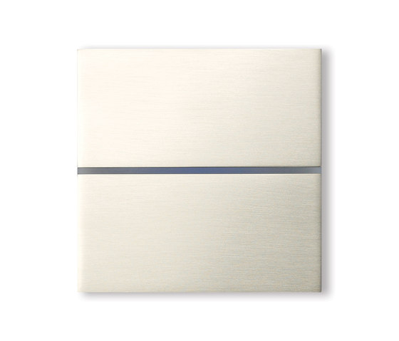 Sentido 2-way brushed nickel by Basalte | KNX-Systems