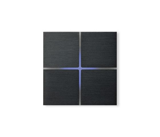 Sentido 4-way brushed dark-grey by Basalte | KNX-Systems