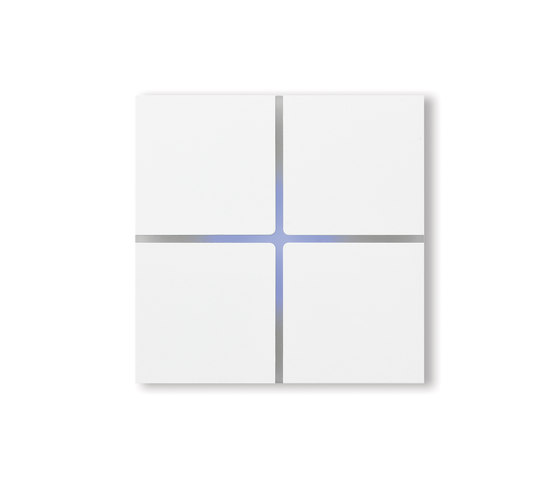 Sentido switch - satin white - 4-way by Basalte | KNX-Systems