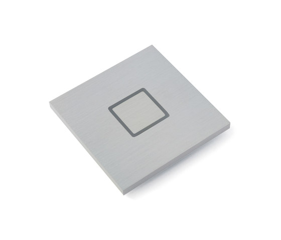Tacto closed brushed aluminium by Basalte | KNX-Systems