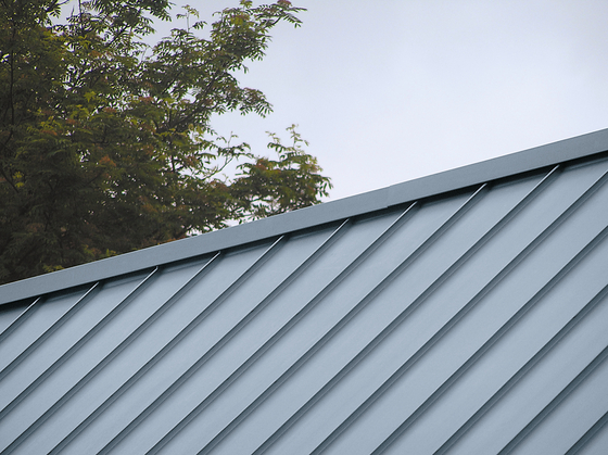 Roof covering | Angled standing seam by RHEINZINK | Roofing systems
