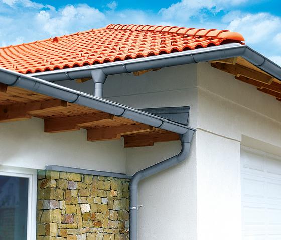 Roof drainage | Halfround gutter by RHEINZINK | Drainage systems