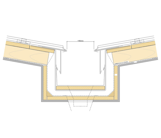 Roof drainage | Inner gutter by RHEINZINK | Inner gutters