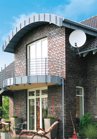 Architectural details | Balcony & canopy by RHEINZINK | Extension systems