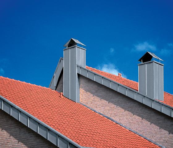 Architectural details | Chimney stacks by RHEINZINK | Facade elements