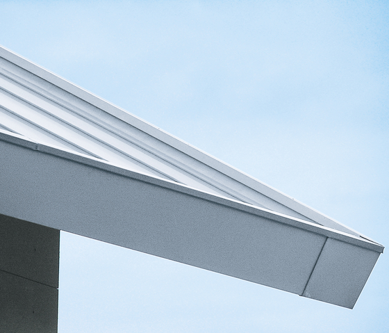 Architectural details | Roof edges & covers by RHEINZINK | Roof edges
