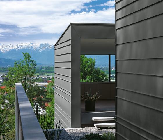 Seam systems | Angled standing seam de RHEINZINK | Sistemas constructivos de fachada