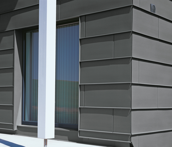 Seam systems | Angled standing seam by RHEINZINK | Facade systems