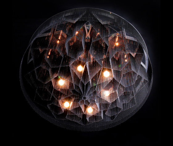 Mandala No.2 - 1000 - suspended di Willowlamp | Lampadari a corona