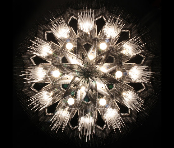 Mandala No.2 - 1000 - ceiling di Willowlamp | Lampadari a corona