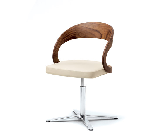 girado  chair with center leg by TEAM 7 | Visitors chairs / Side chairs