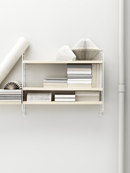 string pocket ash/white by string furniture | CD racks