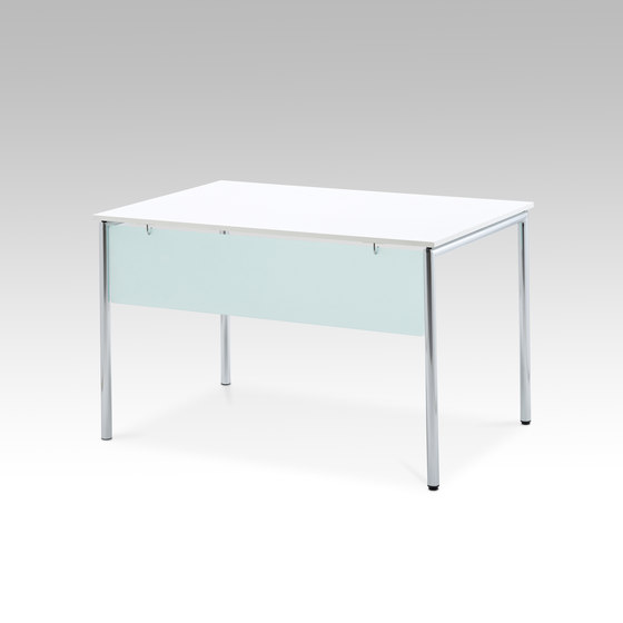 Usu table with modesty panel by HOWE | Multipurpose tables