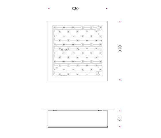 Quadrat ab Led di Mawa Design | Lampade plafoniere