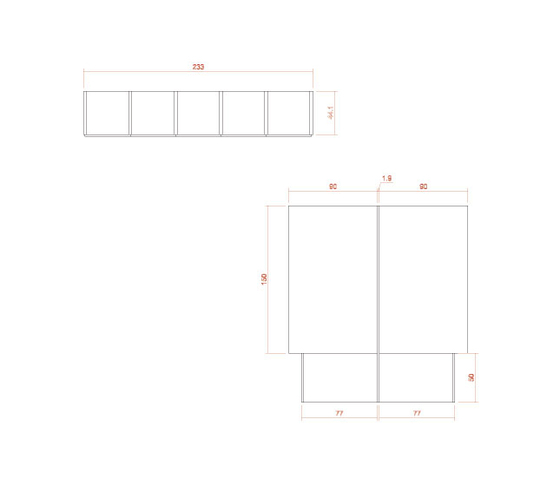 Composition 44 di LAGRAMA | Scrivanie