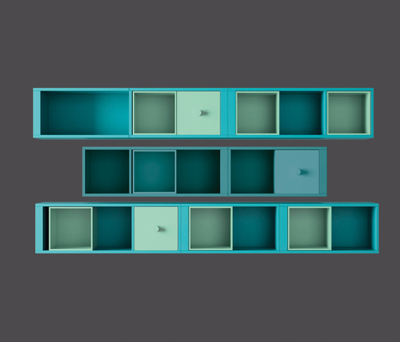 Wall-hanging modules by LAGRAMA | Wall shelves