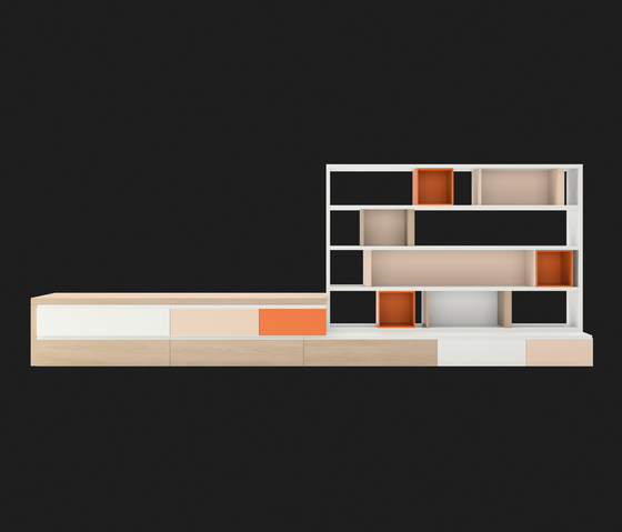 Composition 45 by LAGRAMA | Wall storage systems
