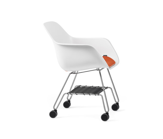 Captain's rolling chair with cushion and storage by extremis | Chairs