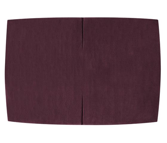 Feringe Convex plum von Kateha | Formatteppiche / Designerteppiche