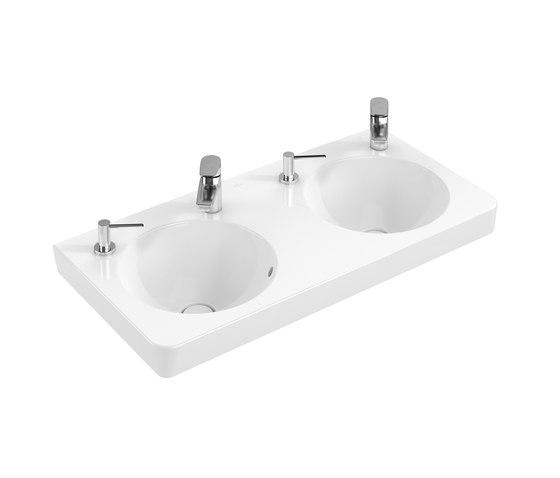 Joyce Double-Vanity Washbasin de Villeroy & Boch | Lavabos