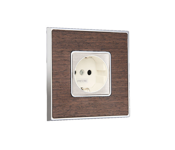 Vintage Wood Switch by FEDE | Schuko sockets