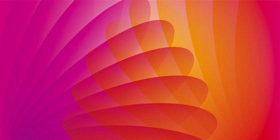 Lounge Design Murals | Pink, orange and red di wallunica | Quadri / Murales