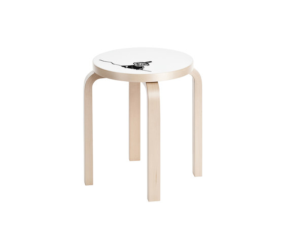 Stool E60 Moomin | Little My by Artek | Multipurpose stools