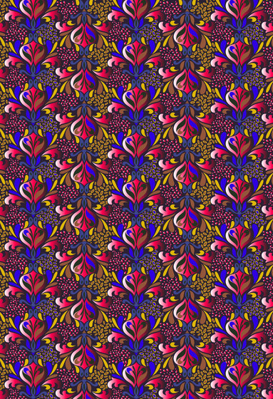 Floral pattern | Colorful repetitive flower design by wallunica | Wall coverings / wallpapers