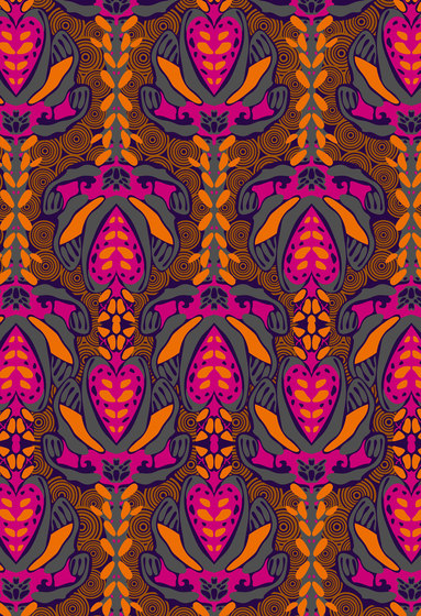 Floral pattern | Colorful repeating pattern by wallunica | Wall coverings / wallpapers