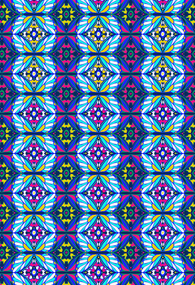 Geometric Design | Colorful repeating pattern by wallunica | Wall coverings