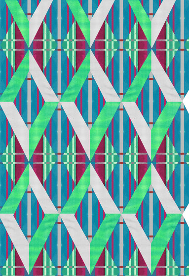 Geometric Design | Diamonds over repeating striped background by wallunica | Wall coverings