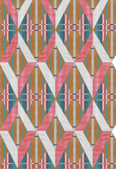 Geometric Design | Diamonds over repeating striped background by wallunica | Wall coverings / wallpapers