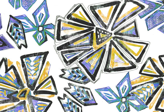 Geometric Design | Geometric flower design by wallunica | Wall coverings / wallpapers