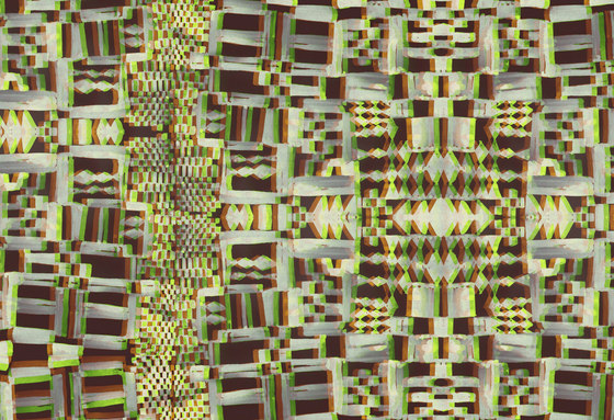 Geometric Design | Yellow and brown geometric design de wallunica | Papeles pintados
