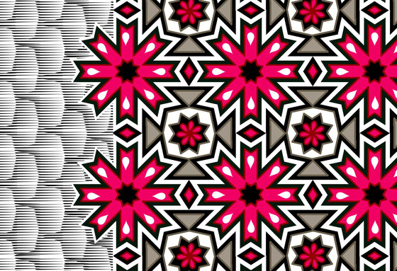 Geometric Design | Pink snowflake design de wallunica | Revestimientos de paredes / papeles pintados
