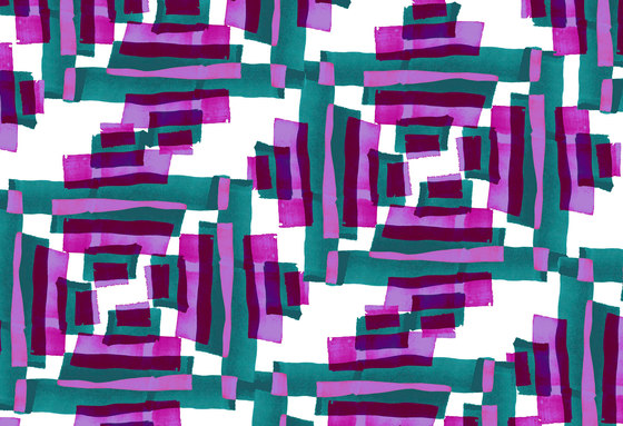Geometric Design | Purple and teal geometric pattern by wallunica | Wall coverings / wallpapers