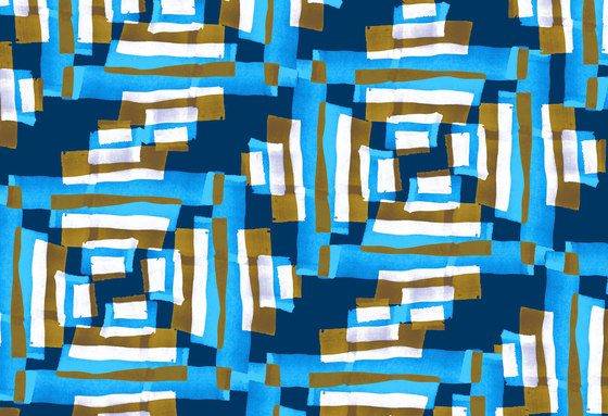Geometric Design | Blue and brown geometric pattern de wallunica | Revestimientos de paredes / papeles pintados