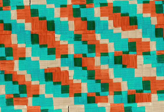 Geometric Design | Colorful stacked squares design by wallunica | Wall coverings