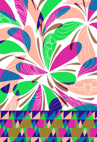 Geometric Design | Colorful geometric pattern on white background by wallunica | Wall coverings