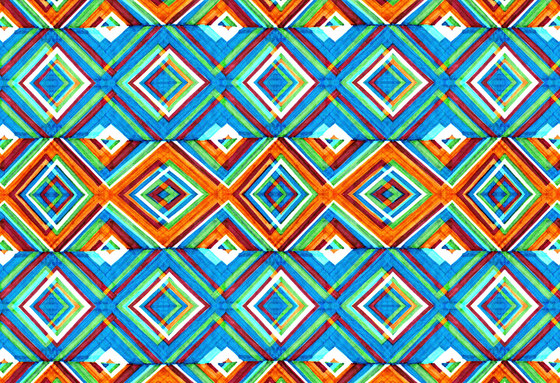 Geometric Design | Colorful layered diamond pattern de wallunica | Revestimientos de paredes / papeles pintados