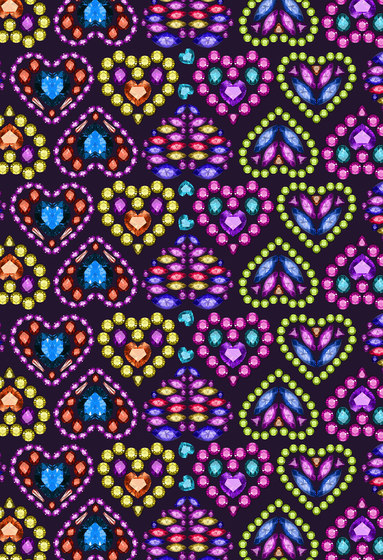 Geometric Design | Jeweled heart design by wallunica | Wall coverings / wallpapers