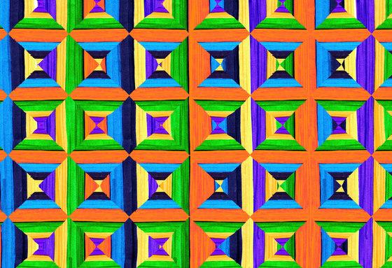 Geometric Design | Colorful geometric pattern de wallunica | Revestimientos de paredes / papeles pintados